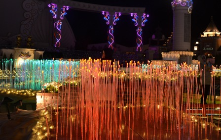 Everland Romantic Illumination colorful reeds and columns