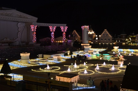Everland Romantic Illumination garden wide view