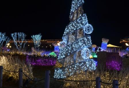 Everland Romantic Illumination silver tree